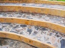 岩石弯曲的楼梯 图库摄影