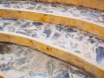 岩石弯曲的楼梯 库存图片