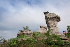 岩石惊人的形状在Pa Hin Ngam国家公园,泰国的 免版税库存图片