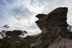 岩石惊人的形状在Pa Hin Ngam国家公园,泰国的 免版税库存照片