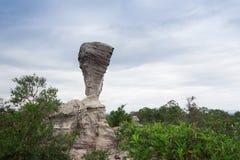 岩石惊人的形状在Pa Hin Ngam国家公园,泰国的 库存图片