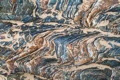岩石架子上色详细资料对比 免版税库存图片