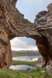 岩石桥梁 库存图片