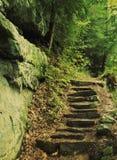 岩石楼梯 免版税库存图片