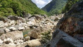 岩石横向 库存照片