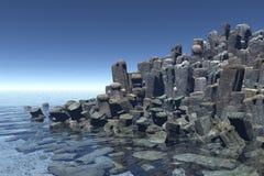 岩石正方形 免版税图库摄影