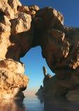 岩石段落, 3d CG 图库摄影