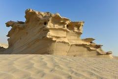 岩石沙漠沙子雕塑 库存图片