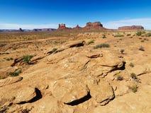 岩石沙漠的横向 免版税库存照片