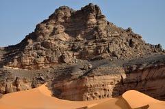 岩石沙漠,利比亚 库存照片