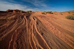 岩石沙漠 库存照片