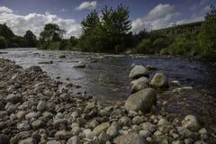 岩石河在威克洛 库存照片