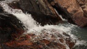 岩石河瀑布越南 影视素材