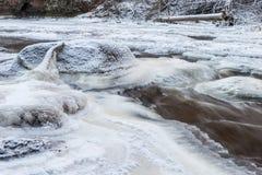 冻岩石河 color ice nice very 库存照片