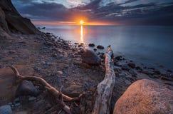 岩石波罗的海岸 库存照片