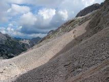 岩石海在朱利安阿尔卑斯山 免版税库存照片