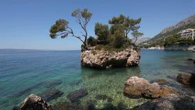 岩石海岛在克罗地亚 影视素材