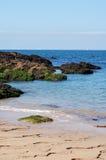岩石海岸不列塔尼法国 免版税库存照片