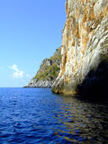 岩石海岸的横向 免版税库存图片