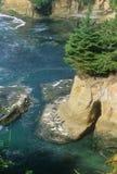 岩石海岸线 库存图片