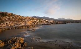 岩石海岸, Davlos北赛普勒斯土耳其共和国 库存照片