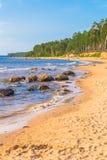 岩石海岸 免版税图库摄影