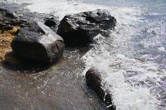 岩石海浪 图库摄影