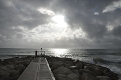 岩石海视图 库存照片