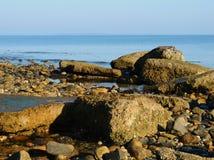 岩石海边海岸线 免版税图库摄影