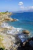岩石海边 免版税库存图片