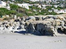 岩石海滩,阵营海湾,开普敦,南非 免版税库存照片