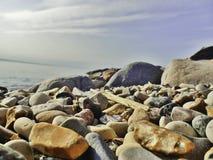 岩石海滨 图库摄影