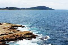 岩石海滩@ Terrigal,澳大利亚 库存照片