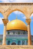 岩石清真寺的圆顶在耶路撒冷,以色列。 库存照片