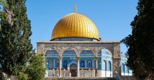 岩石清真寺的圆顶在耶路撒冷 库存图片
