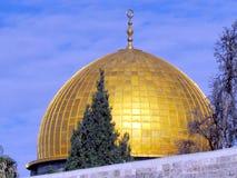 岩石清真寺2012年12月耶路撒冷圆顶  库存图片