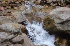 岩石瀑布 图库摄影