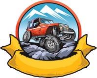 岩石爬行的汽车 免版税库存照片