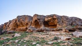 岩石的一个小洞穴 图库摄影