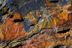 岩石的五颜六色的形成被堆积在上百年 图库摄影