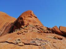 岩石的侵蚀在红色中心 免版税库存照片