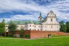 岩石的克拉科夫,波兰Skalka教会  免版税库存图片