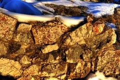 岩石的冰 库存图片
