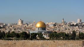 岩石的圆顶在圣殿山,耶路撒冷,以色列 免版税图库摄影