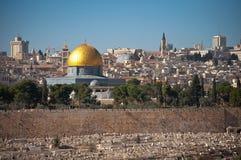 岩石的圆顶在耶路撒冷 图库摄影