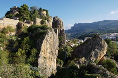 岩石的城堡 库存图片