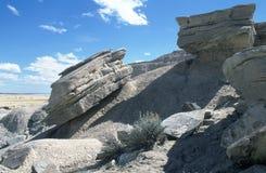 岩石的小山 库存照片