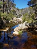 岩石的小河 库存图片