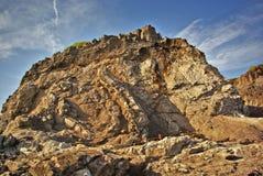 岩石的山坡 库存图片
