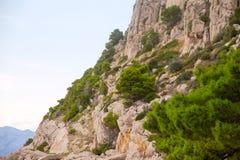 岩石的峭壁 库存图片